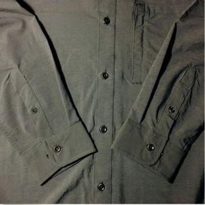 swiss Tech Shirts - Swiss Tech Mens Long Sleeve Outdoor Woven Shirt L